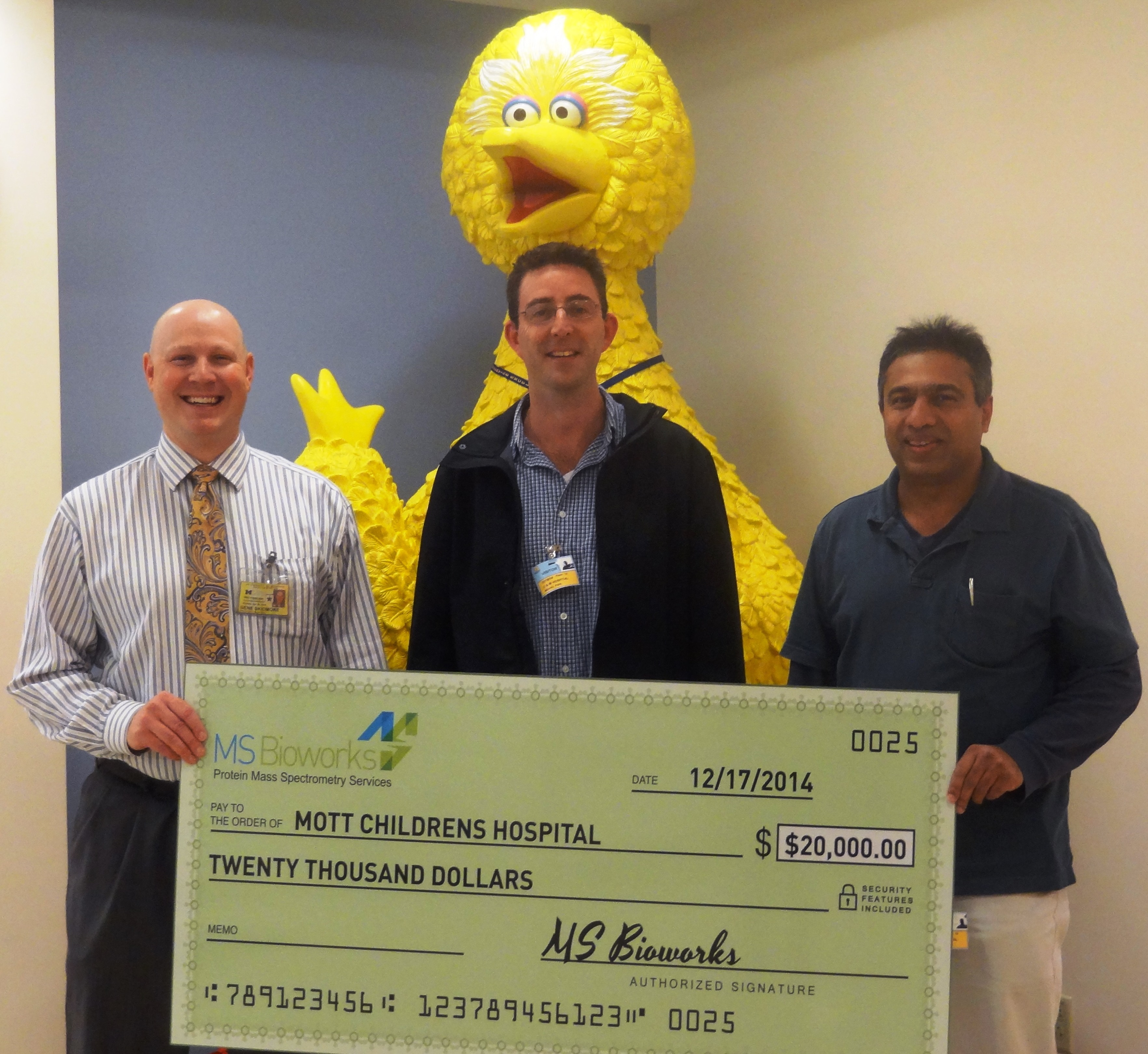 Annual Donation To C S Mott Children S Hospital Ms Bioworks